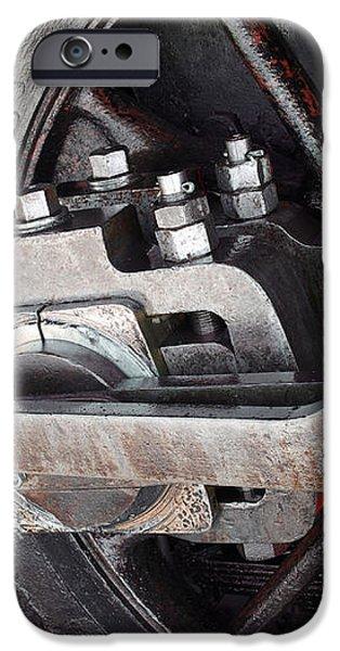 Locomotive Wheel iPhone Case by Carlos Caetano