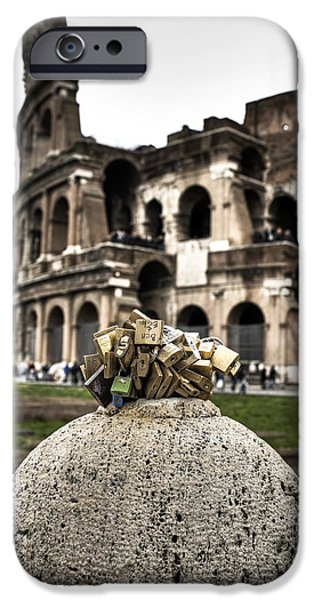 love locks in Rome iPhone Case by Joana Kruse