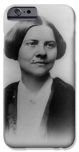Abolition Movement iPhone Cases - Lucy Stone, American Abolitionist iPhone Case by Photo Researchers