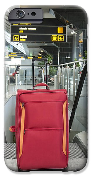 Luggage at the Top of an Escalator iPhone Case by Jaak Nilson