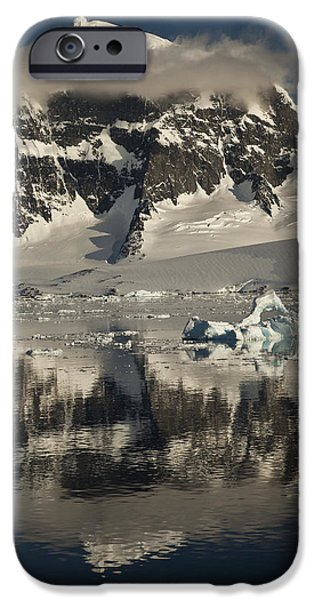 Luigi Peak Wiencke Island Antarctic iPhone Case by Colin Monteath