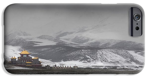 Tibetan Buddhism iPhone Cases - Machen Lhagong Monastery. A Newly iPhone Case by Phil Borges