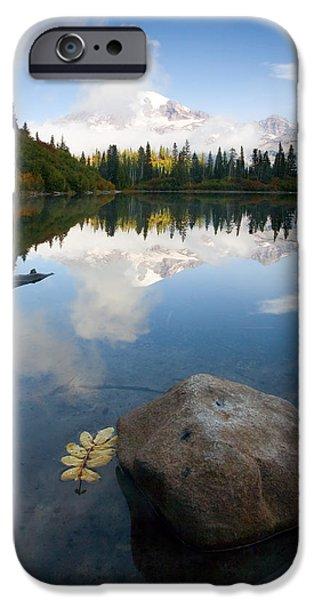 Mt Rainier iPhone Cases - Majesty Hidden iPhone Case by Mike  Dawson