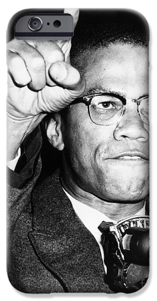 MALCOLM X (1925-1965) iPhone Case by Granger