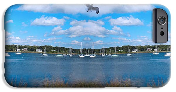 Flying Seagull iPhone Cases - Marina iPhone Case by Lourry Legarde
