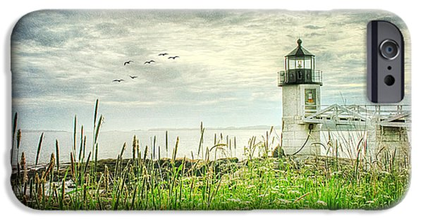 New England Lighthouse iPhone Cases - Marshall Point iPhone Case by Darren Fisher