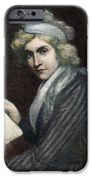 Opie iPhone Cases - Mary W. Godwin (1759-1797) iPhone Case by Granger