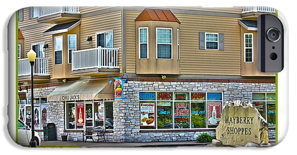 Mayberry iPhone Cases - Mayberry Shoppes in Sylvania iPhone Case by Jack Schultz