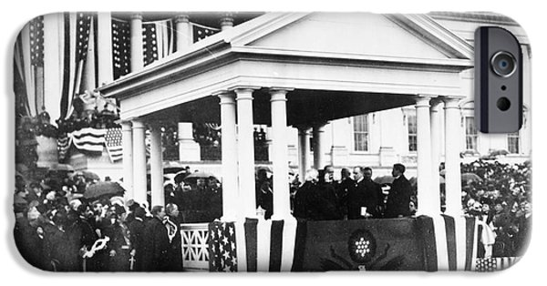 The White House Photographs iPhone Cases - McKINLEY INAUGURATION, 1901 iPhone Case by Granger