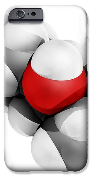 Menthol Molecule iPhone Case by Laguna Design