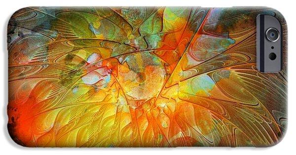 Floral Digital Art Digital Art iPhone Cases - Metamorphosis iPhone Case by Amanda Moore