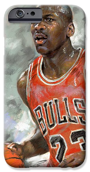Michael Jordan iPhone Case by Ylli Haruni