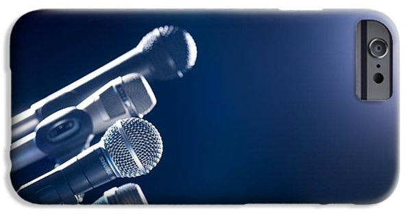 Electrical Equipment iPhone Cases - Microphones iPhone Case by Tek Image