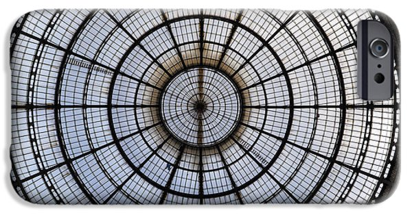 Glass Wall iPhone Cases - Milan Galleria Vittorio Emanuele II iPhone Case by Joana Kruse