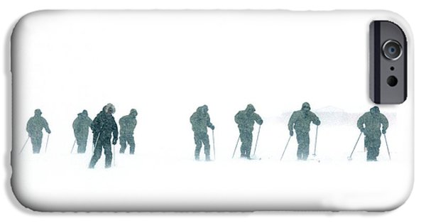 Human Survival iPhone Cases - Military Arctic Survival Training iPhone Case by Louise Murray