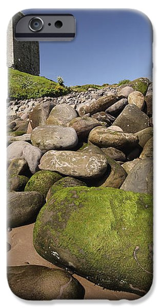 Minard Castle And Rocky Beach Minard iPhone Case by Trish Punch