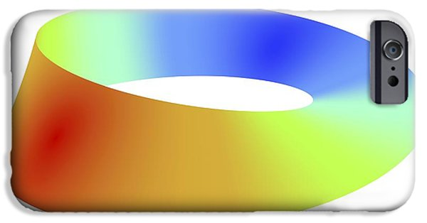 Mobius Strip iPhone Cases - Mobius Strip, Computer Artwork iPhone Case by Pasieka
