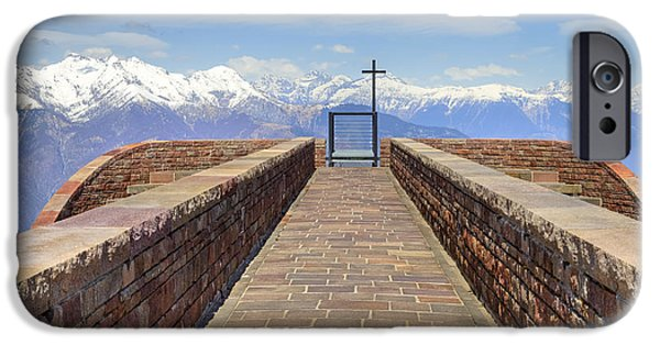 Santa Maria Degli Angeli iPhone Cases - Monte Tamaro iPhone Case by Joana Kruse