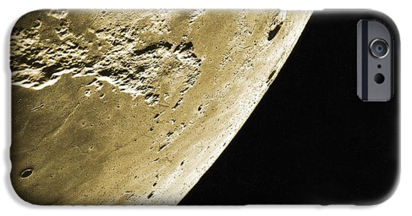 Color Enhanced iPhone Cases - Moon, Apollo 16 Mission iPhone Case by Science Source