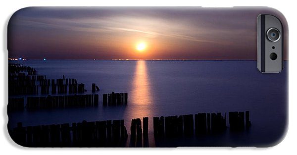 Great Lakes iPhone Cases - Moonrise iPhone Case by Cale Best