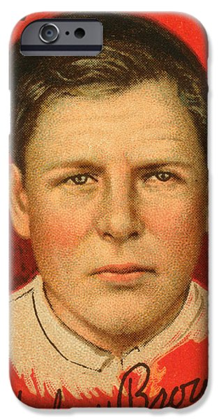 Chicago Cubs iPhone Cases - Mordecai Brown (1876-1948) iPhone Case by Granger