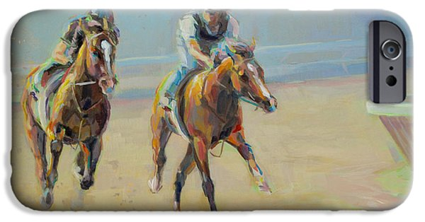 Thoroughbred iPhone Cases - Morning Banter iPhone Case by Kimberly Santini