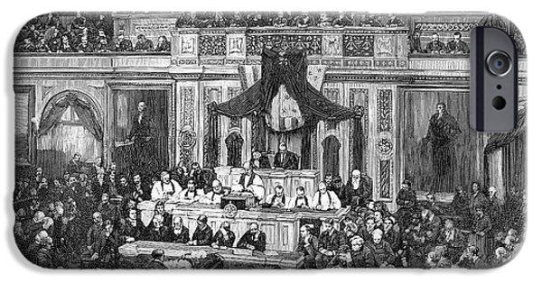 D.c. iPhone Cases - Morrison R. Waite (1816-1888) iPhone Case by Granger