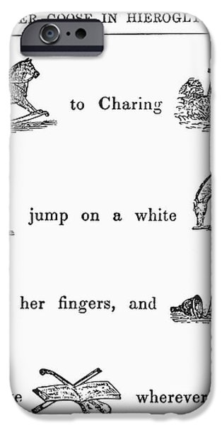 MOTHER GOOSE, 1849 iPhone Case by Granger