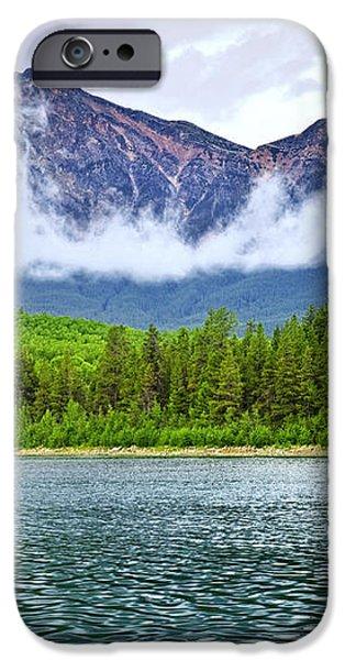 Mountain lake in Jasper National Park iPhone Case by Elena Elisseeva