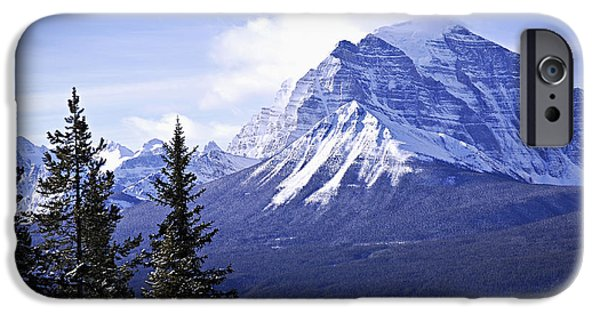 Snowy Day iPhone Cases - Mountain landscape iPhone Case by Elena Elisseeva