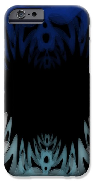 Exploring Paintings iPhone Cases - Mouth of the Beast. iPhone Case by Christopher Gaston