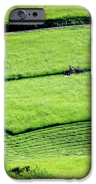 Mowing Hay  iPhone Case by Thomas R Fletcher