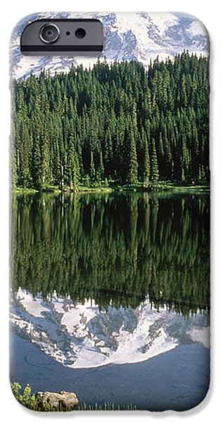 Mt Rainier Reflected In Lake Mt Rainier iPhone Case by Tim Fitzharris