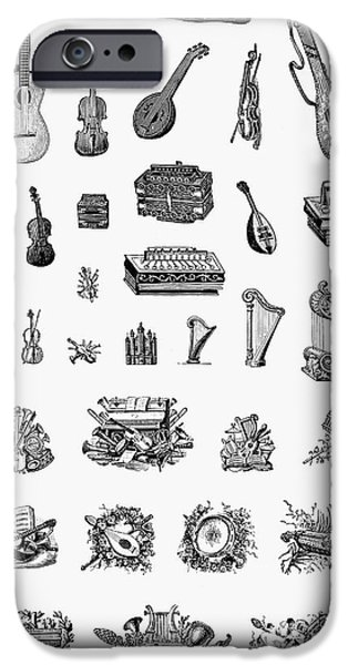 MUSICAL INSTRUMENTS iPhone Case by Granger