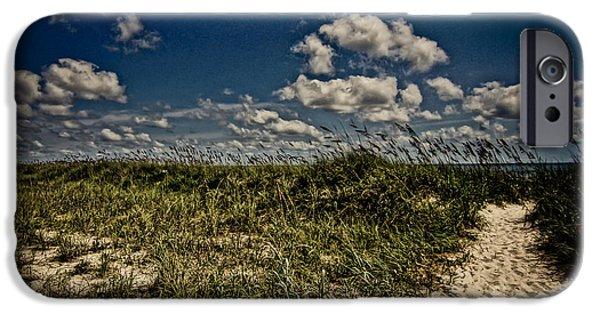 Beach Landscape iPhone Cases - Myrtle Beach iPhone Case by Matthew Trudeau