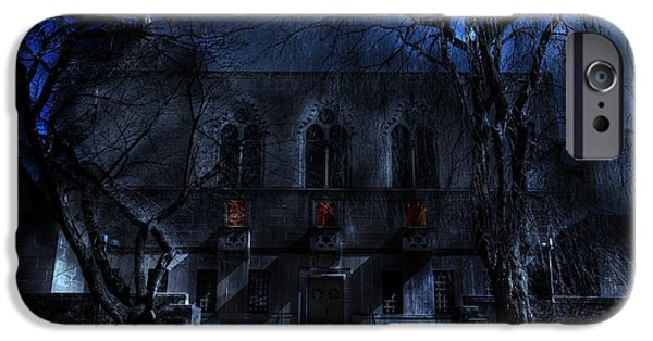 Eerie iPhone Cases - Mysterious Zembo Shrine iPhone Case by Shelley Neff