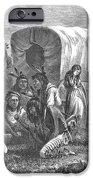 NATIVE AMERICANS: GAMBLING, 1870 iPhone Case by Granger