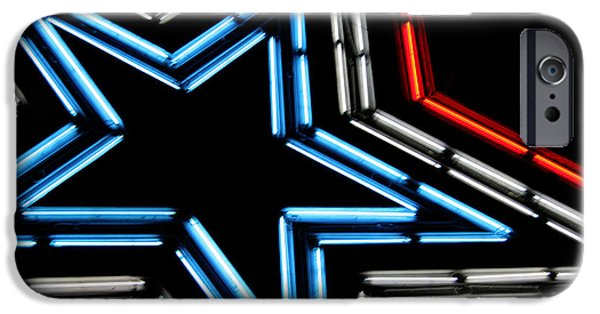 4th July Photographs iPhone Cases - Neon Star iPhone Case by Darren Fisher