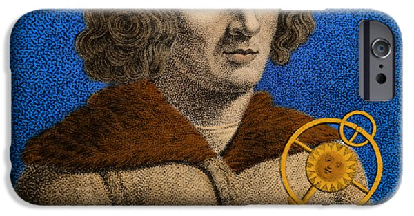 Copernicus iPhone Cases - Nicolaus Copernicus, Polish Astronomer iPhone Case by Omikron