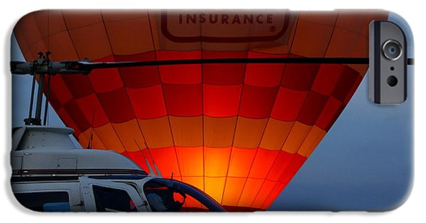 Hot Air Balloon iPhone Cases - Night Flight iPhone Case by Robert Frederick