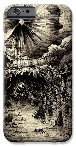 Night in Bethlehem iPhone Case by Rachel Christine Nowicki