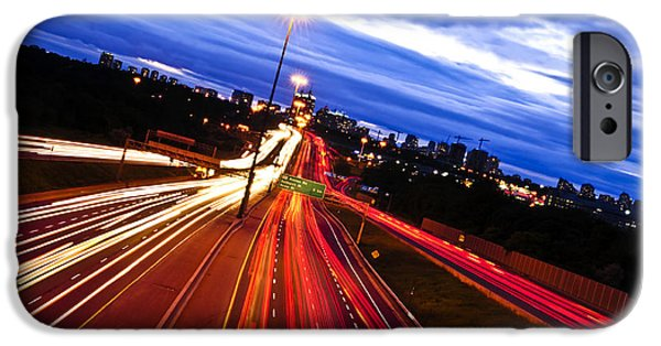 Traffic iPhone Cases - Night traffic iPhone Case by Elena Elisseeva