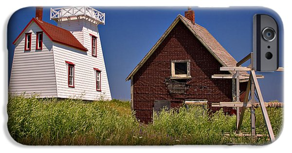 North Rustico iPhone Cases - North Rustico Lighthouse iPhone Case by Louise Heusinkveld