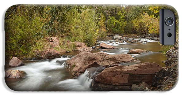 Oak Creek iPhone Cases - Oak Creek In Slide Rock State Park iPhone Case by Tim Fitzharris