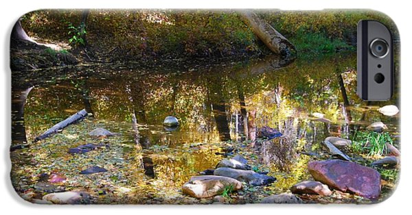 West Fork iPhone Cases - Oak Creek Reflection iPhone Case by Tam Ryan