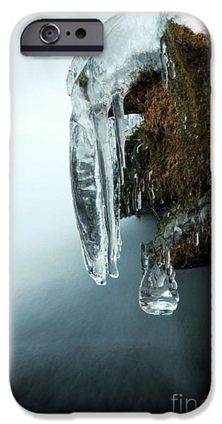 Wintertime iPhone Cases - Of Ice and Water iPhone Case by Darren Fisher