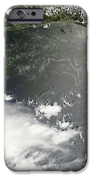 Oil Slick In The Gulf Of Mexico iPhone Case by Stocktrek Images