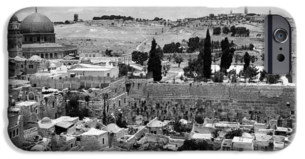 The Dome iPhone Cases - Old Jerusalem iPhone Case by Munir Alawi