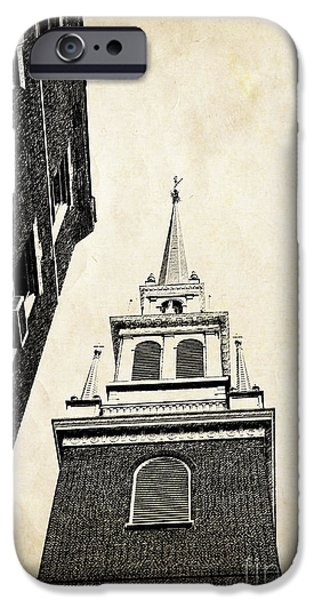 Freedom iPhone Cases - Old North Church in Boston iPhone Case by Elena Elisseeva
