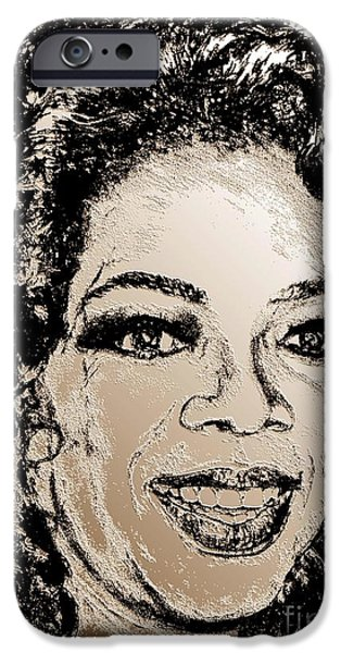 Oprah Winfrey in 2007 iPhone Case by J McCombie
